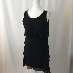 Layered black sleeveless dress (#134)